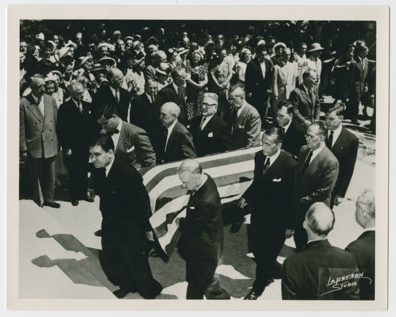 Pallbearers at the funeral of Justice Wiley Rutledge
