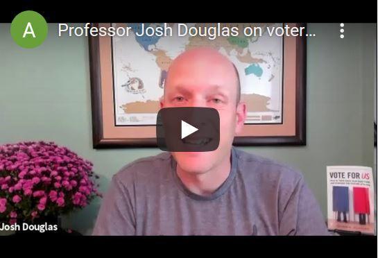 Professor Josh Douglas on voter suppression in election 2020